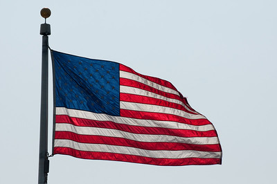 One of the US Flags around the Washington Monument