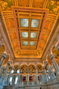 Interior of Library of Congress Jefferson Bld.
