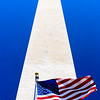 Washington Monument - View of the Monument with US flag