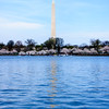 Washington Monument - A panoramic view of the Tidal Basin, the Washington Monument and the cherry trees in bloom.