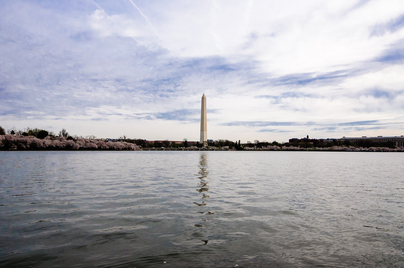 Washington Monument - Wide Angle panorama of the Tidal Basin with the Washington Monument at the center.