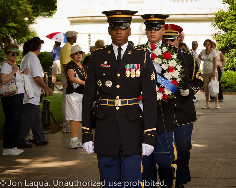 Arlington National Cemetery, and the changing of the guard.