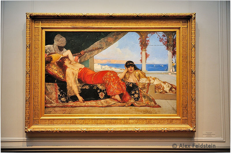 """""""The Favorite of the Emir""""(1879)<br /> Oil on canvas<br /> Jean Joseph Benjamin Constant<br /> on loan from the U.S. Naval Academy Museum"""