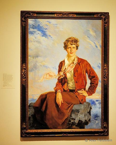 Amelia Earhart<br /> National Portrait Gallery