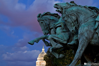 Ulysses Grant Memorial & the U.S. Capitol