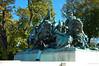 Seven charging cavalrymen - Grant Memorial