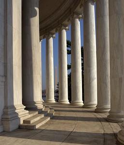Jefferson Memorial & Washington Monument