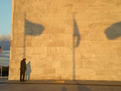 Flag Shadows on Washington Monument