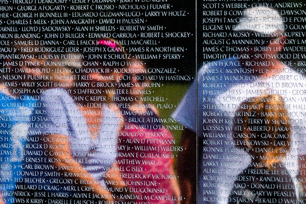 Reflections in Vietnam Veterans Memorial