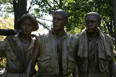 Three Servicemen Statue (Vietnam) - soldiers purposefully identifiable as White American, African American, and Hispanic American.
