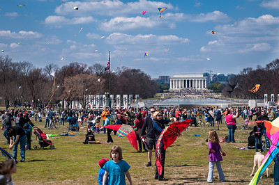 Kite Festival on the Mall in Washington March 2013