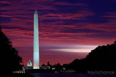 Sunrise over the National Mall