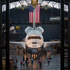National Air and Space Museum, Steven F. Udvar-Hazy Center at Dulles Airport. Space Shuttle Enterprise, used for drop testing. The Enterprise was initially scheduled to be retrofitted for space flight, but design changes made prevented that.