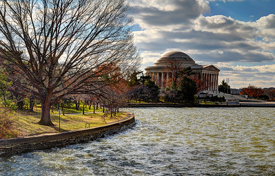 Thomas Jefferson Memorial and Tidal Basin in Autumn (c) 2013 Karin Markert, all rights reserved.