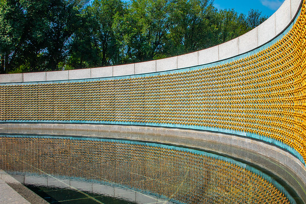 World War II Wall of Freedom Right to Left