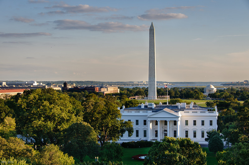 View of the White House from Hay Adams Hotel   Sept 2012