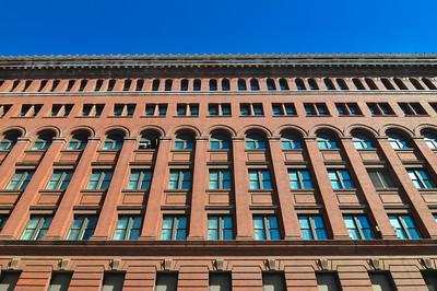 big red brick building