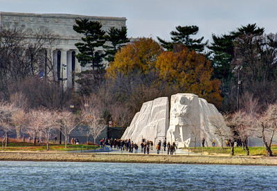 Martin Luther King Jr. Memorial and Lincoln Memorial (c) 2013 Karin Markert, all rights reserved.