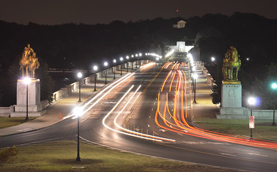 Traffic over Arlington Memorial Bridge (c) 2013 Karin Markert, all rights reserved.