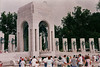 Looking at the Pacific portico of the WW2 Memorial.
