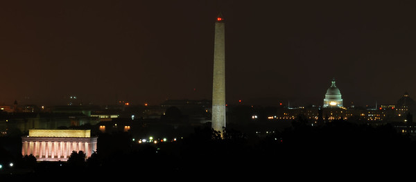 Overlooking Washington DC in a Storm (c) 2013 Karin Markert, all rights reserved.