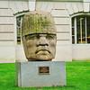 Olmec colossal head reproduction