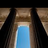 massive pillars of architecture