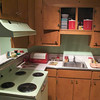 Original 1950s American tract house kitchen. (Smithsonian, National Museum of American History)