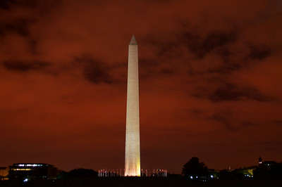 The Washington Monument (at night)