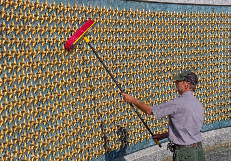 spiffing up the WWII Memorial