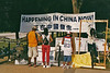 During my 2004 visit, in the Lincoln Memorial - VietNam Memorial area there were political protestors distributing material about atrocities and civil rights violations in China.