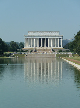 Lincoln Memorial mirrored in the reflecting pool