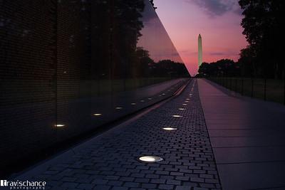 Sunrise at the Vietnam Veterans Memorial
