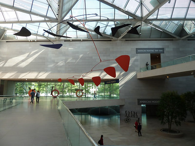 Alexander Calder mobile in the National Gallery of Art
