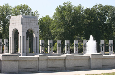 View of the Pacific Section of the WWII memorial