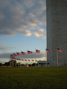 Flags at base of Washington Monument