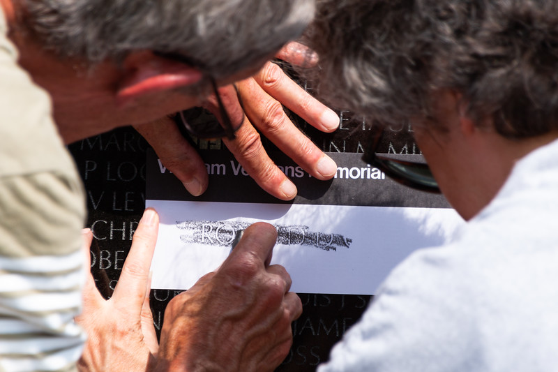 Vietnam Veterans Memorial Pencil Etching