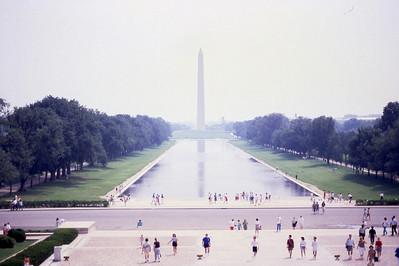 Reflecting Pool and Washington Monument  Washington, D C