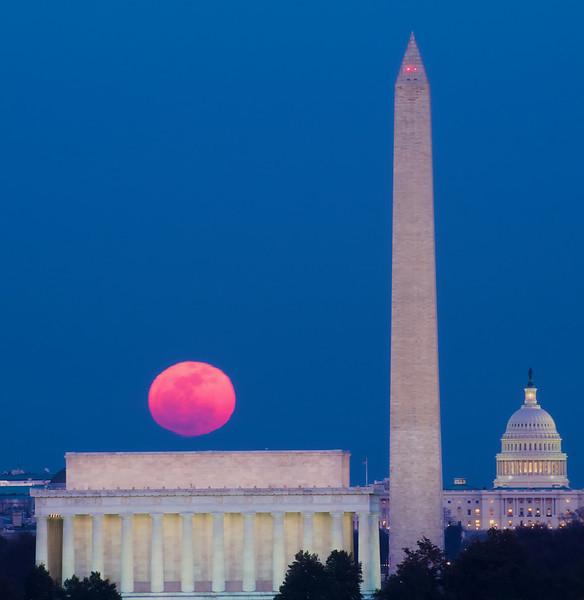 Snow Moonrise Over DC