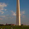 "The Washington Monument is the most prominent structure in Washington, D.C. and one of the city's early attractions. It was built in honor of George Washington, who led the country to independence and then became its first President. The Monument is shaped like an Egyptian obelisk, stands 555' 5 1/8"" tall, and offers views in excess of thirty miles. It was finished on December 6, 1884."