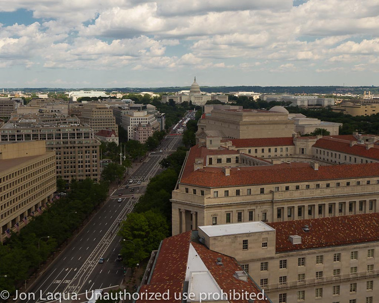 From the top of the old Post Office building.