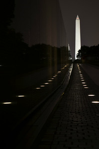 Vietnam Veterans Memorial, looking toward Washington Monument (c) 2013 Karin Markert, all rights reserved.