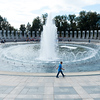The Memorial is built around a central reflecting pool with fountain.