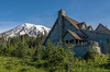 Paradise Inn with Mt Rainier in the background