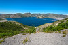 Spirit Lake, Mt St Helens.  The debris in the lake are trees felled by the eruption.