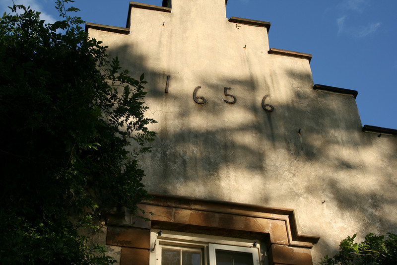 I need to get a clarification as to the meaning of 1656 above the front porch of the house.