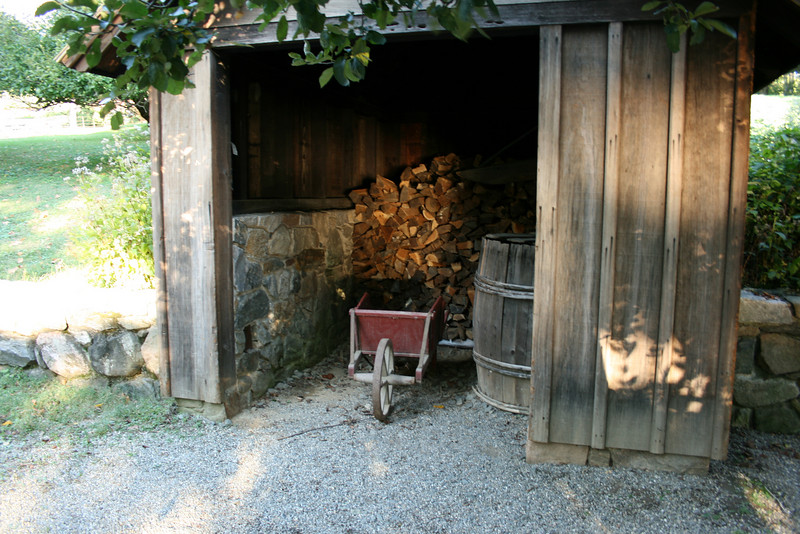 A small lawn shed on the property of Washington Irving.