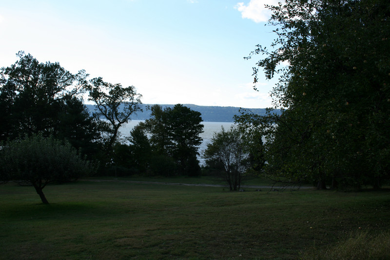 Basically, this was Washington Irving's front lawn looking out to the Hudson River.