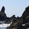 SHI SHI BEACH-9591<br /> I have to point out that if you zoom-in (original size) you will see an American Bald Eagle perched high up on the rock formation (Sea Stack)!  Shi Shi Beach is amazing!