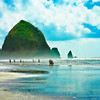 Haystack Rock, Cannon Beach, OR. <br /> Thanks for all the nice comments! You all are a great inspiration!